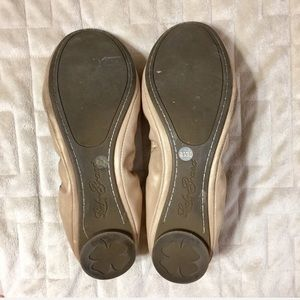 Lucky Brand Shoes - Lucky Brand Emmie Shimmer Nude Leather Flats